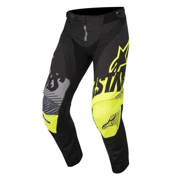 Alpinestars Racer Youth Screamer Kids Black Fluo Yellow Grey Motocross Pants 1511 Front