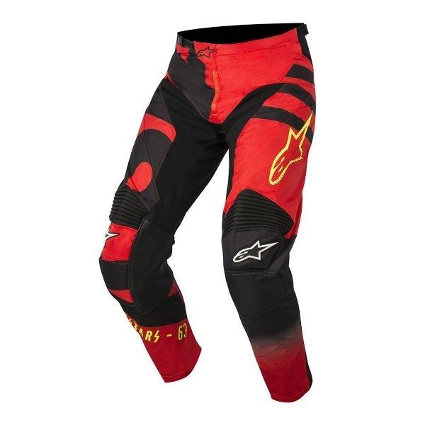 Racer Braap Pants 316 Red Black Yellow Flo Discount Motorcycle Gear