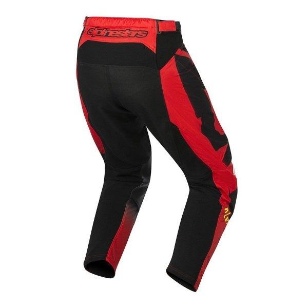 Alpinestars Racer Braap Mens Red Black Fluo Yellow Motocross Pants 316 Riding position