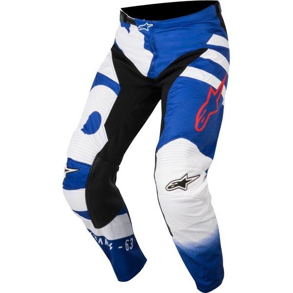 Racer Braap Pants 723 Blue White Red Discount Motorcycle Gear