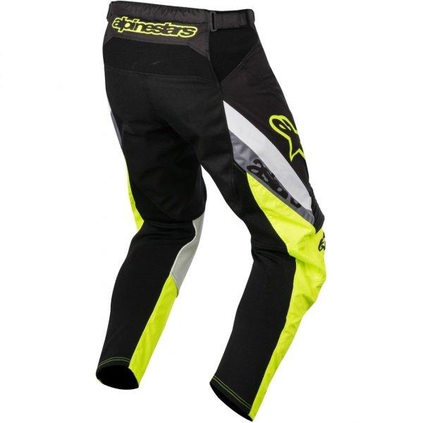 Alpinestars Racer Supermatic Mens Black Fluo Yellow Grey Motocross Pants 1511 Rear