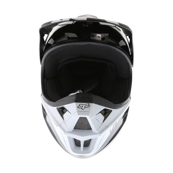 Fox V1 Race Black Motocross Helmet Front