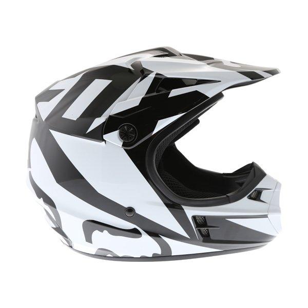 Fox V1 Race Black Motocross Helmet Right Side