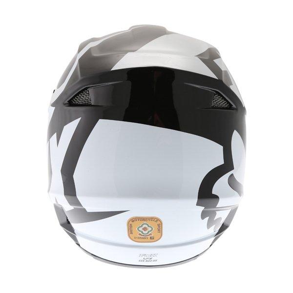 Fox V1 Race Black Motocross Helmet Back