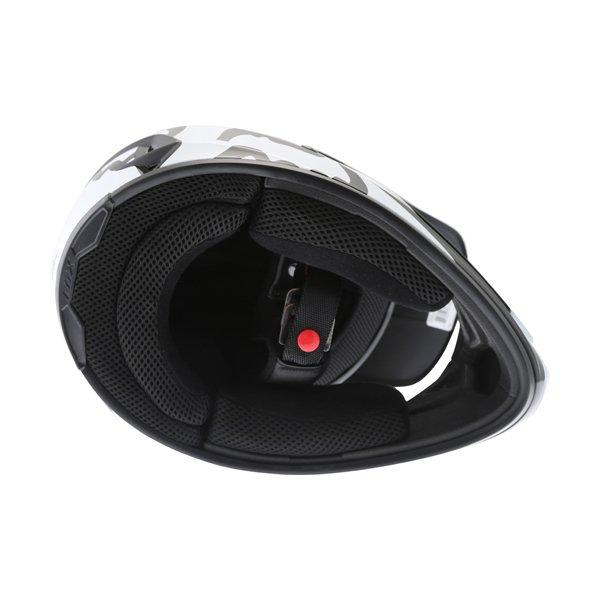 Fox V1 Race Black Motocross Helmet Inside