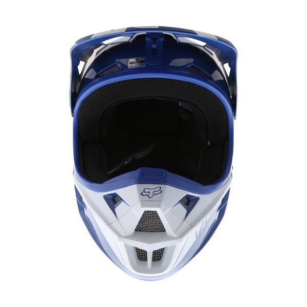 Fox V1 Race Blue Motocross Helmet Front