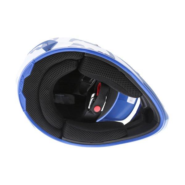 Fox V1 Race Blue Motocross Helmet Inside