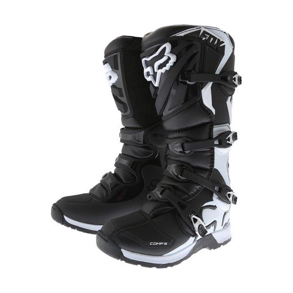 Comp 5 Boots Black Motocross Boots