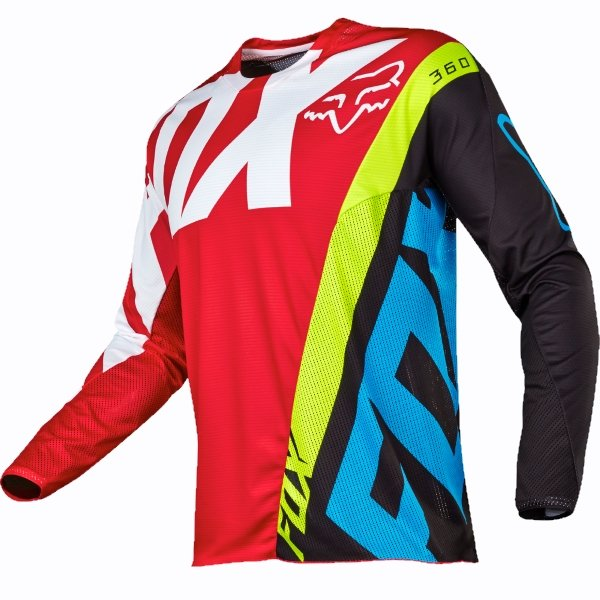 Fox 360 Creo Red Adults Motocross Jersey Front