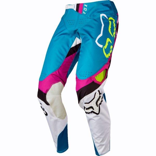 Fox 360 Rohr Mens Teal Motocross Pants Front