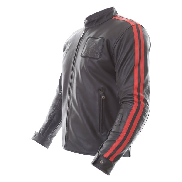 Alpinestars Charlie Tech-Air Black Red Leather Motorcycle Jacket Side