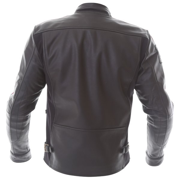 Alpinestars Charlie Tech-Air Black Red Leather Motorcycle Jacket Back