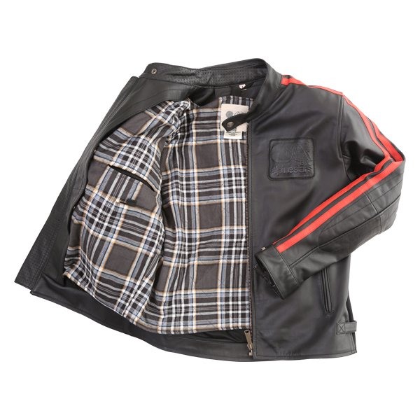 Alpinestars Charlie Tech-Air Black Red Leather Motorcycle Jacket Inside