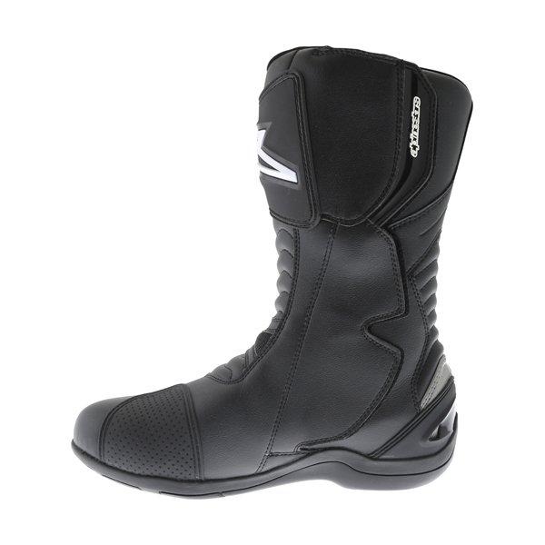 Alpinestars Pikes Drystar Black Motorcycle Boots Inside leg