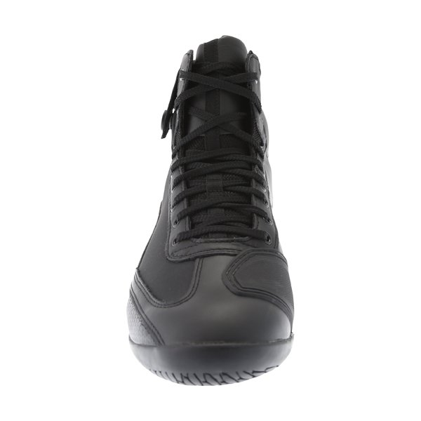 Alpinestars AST-1 Black Grey Motorcycle Drystar Shoes Front