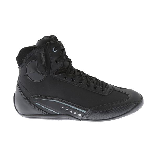 Alpinestars AST-1 Drystar Black Grey Motorcycle Shoes Outside leg