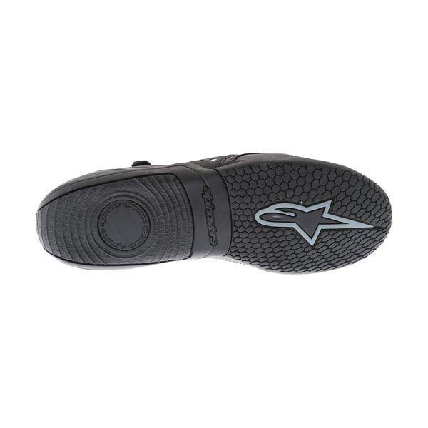 Alpinestars AST-1 Drystar Black Grey Motorcycle Shoes Sole
