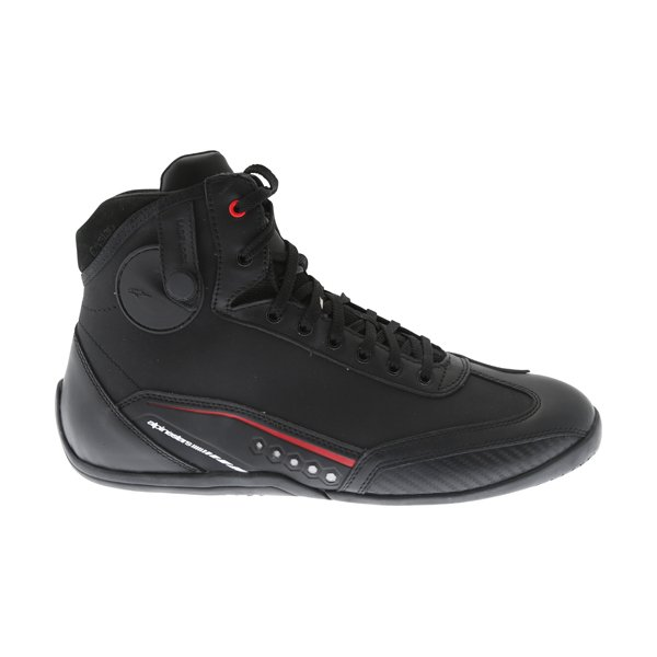 Alpinestars AST-1 Drystar Black Red Motorcycle Shoes Outside leg