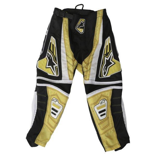 Alpinestars Kids Racer Yellow MX Pants Front