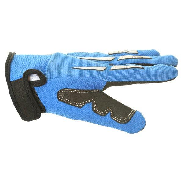 BKS Freestyle Kids MX Blue Glove Thumb side