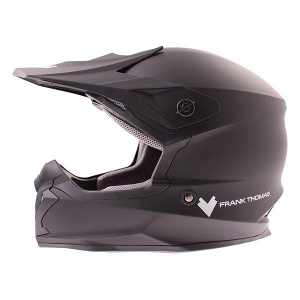 Frank Thomas FT696 MX Matt Black Helmet Left Side