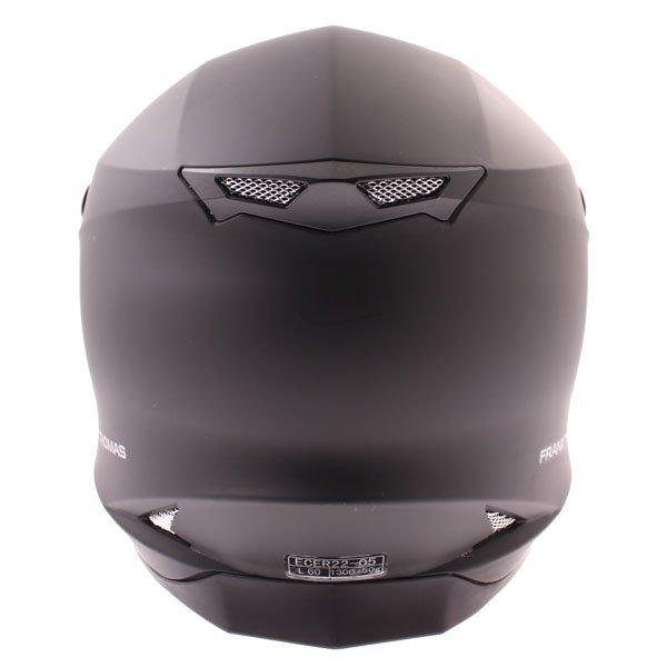Frank Thomas FT696 MX Matt Black Helmet Back