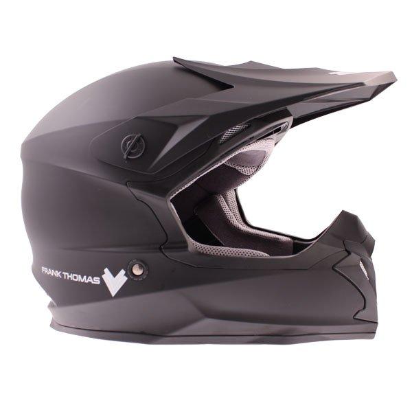 Frank Thomas FT696 MX Matt Black Helmet Right Side