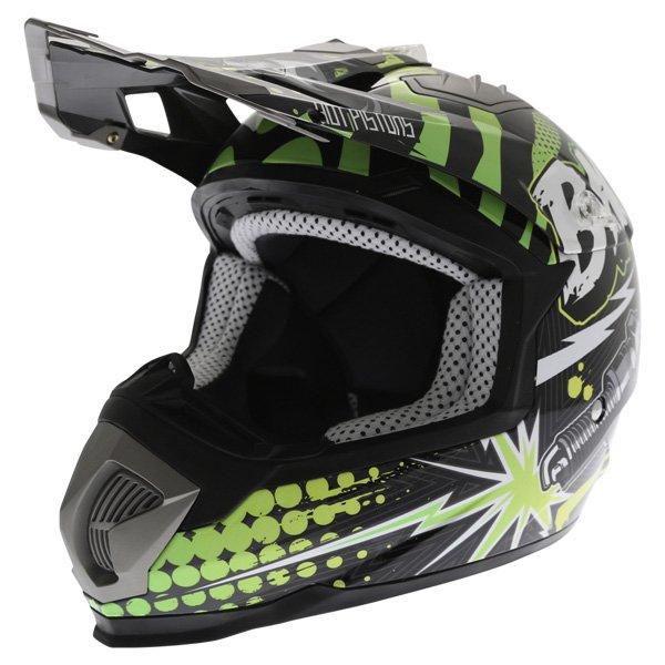 BKS 315 Piston Adult MX Green Helmet Front Left