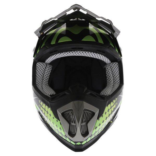 BKS 315 Piston Adult MX Green Helmet Front
