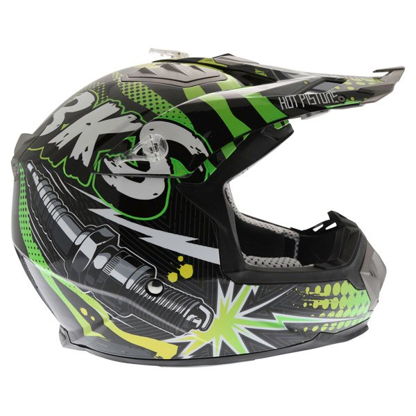 BKS 315 Piston Adult MX Green Helmet Right Side