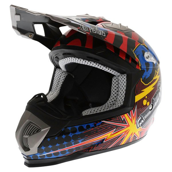 BKS 315 Piston Adult MX Blue Helmet Front Left