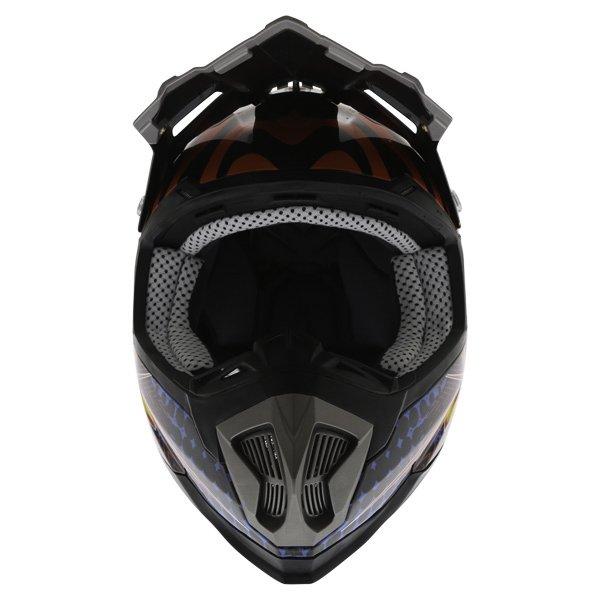 BKS 315 Piston Adult MX Blue Helmet Front
