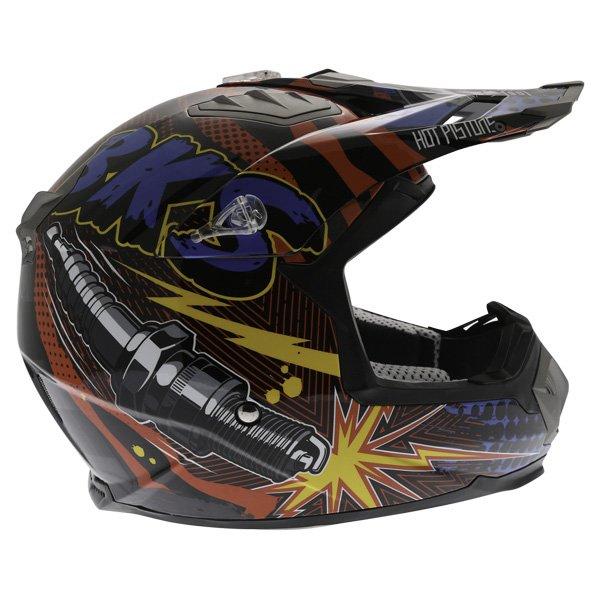 BKS 315 Piston Adult MX Blue Helmet Right Side