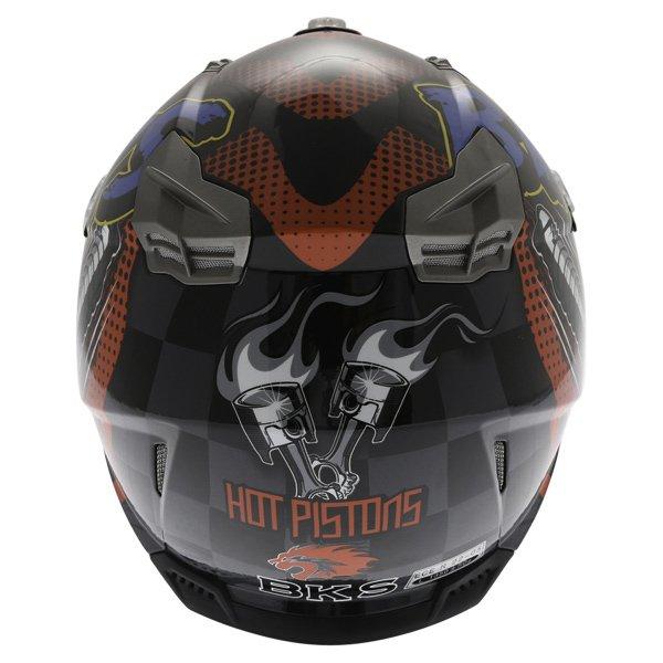 BKS 315 Piston Adult MX Blue Helmet Back