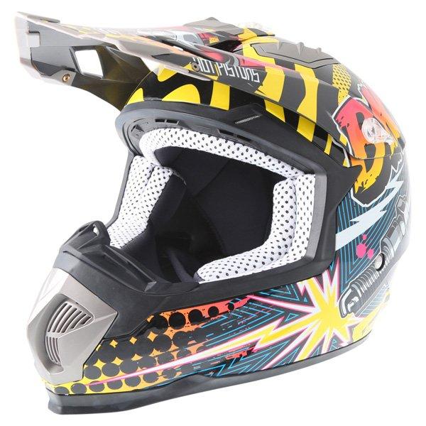 BKS 315 Piston Adult MX Orange Helmet Front Left