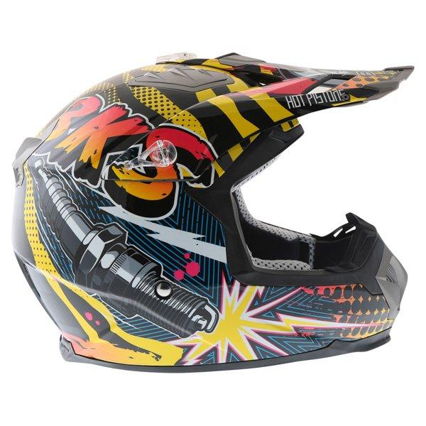 BKS 315 Piston Adult MX Orange Helmet Right Side