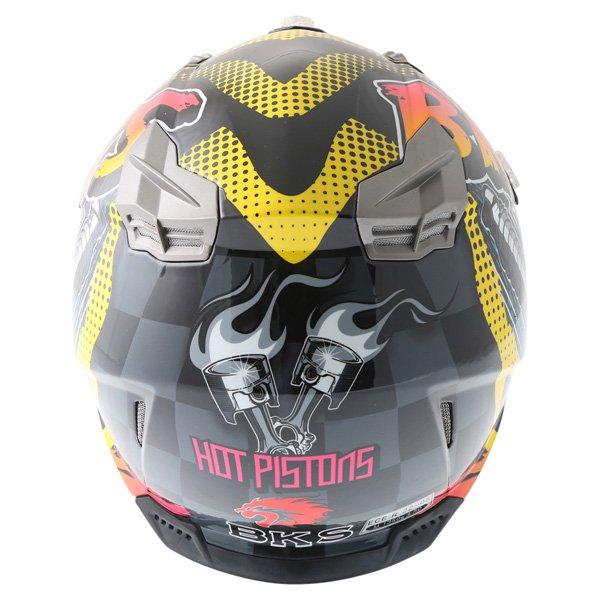 BKS 315 Piston Adult MX Orange Helmet Back