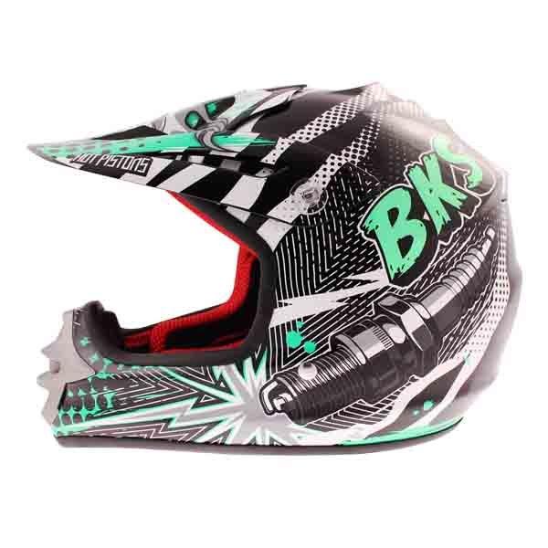 BKS 303 Piston Kids MX Green Helmet Left Side