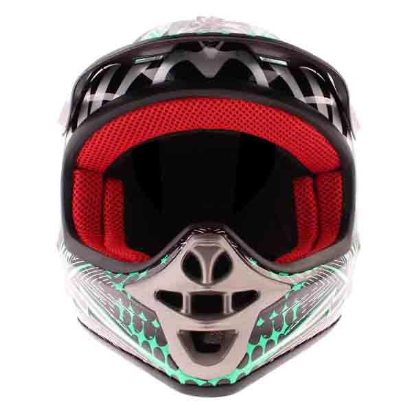 BKS 303 Piston Kids MX Green Helmet Front