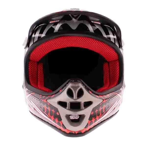 BKS 303 Piston Kids MX Red Helmet Front