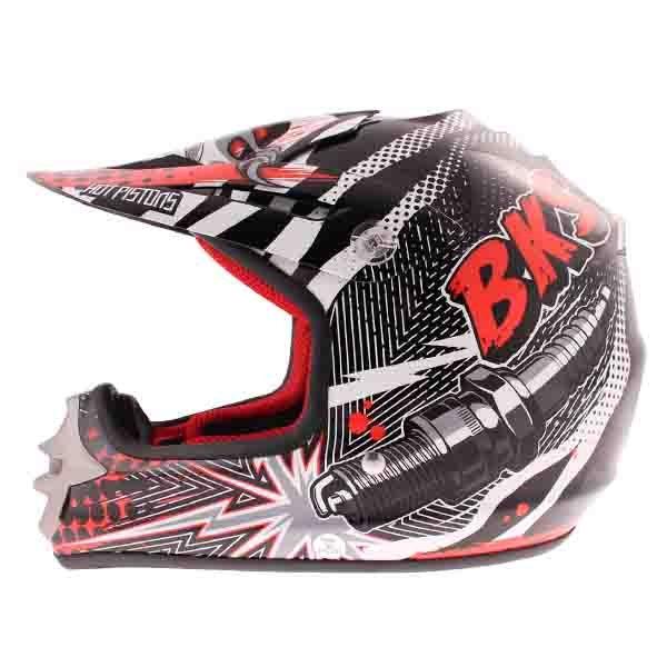 BKS 303 Piston Kids MX Red Helmet Left Side