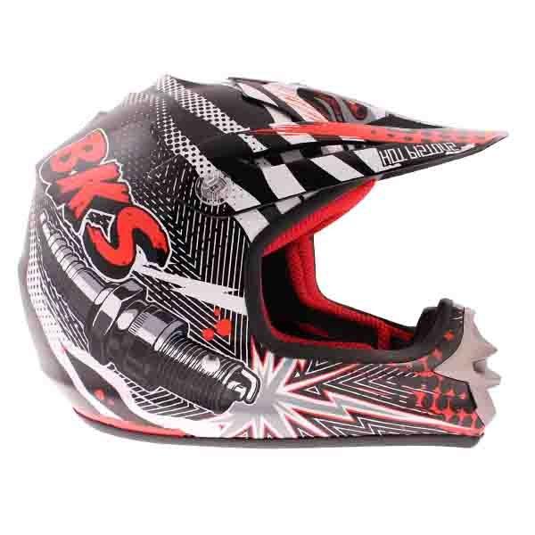 BKS 303 Piston Kids MX Red Helmet Right Side