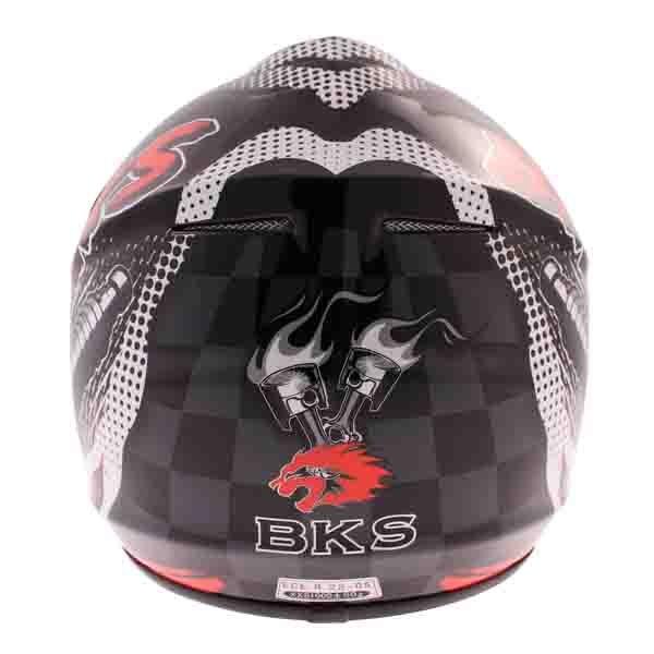 BKS 303 Piston Kids MX Red Helmet Back