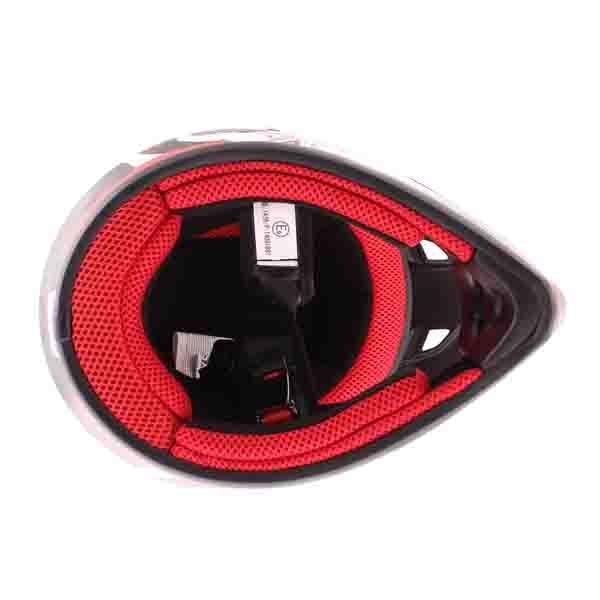 BKS 303 Piston Kids MX Red Helmet Inside