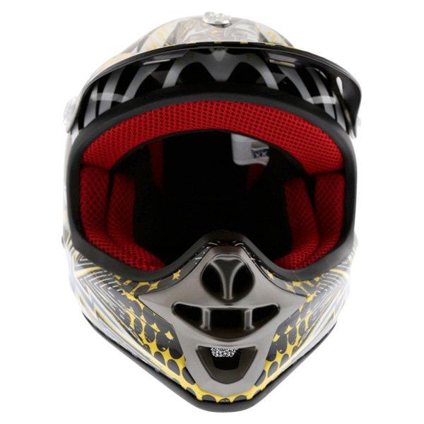 BKS 303 Piston Kids MX Orange Helmet Front