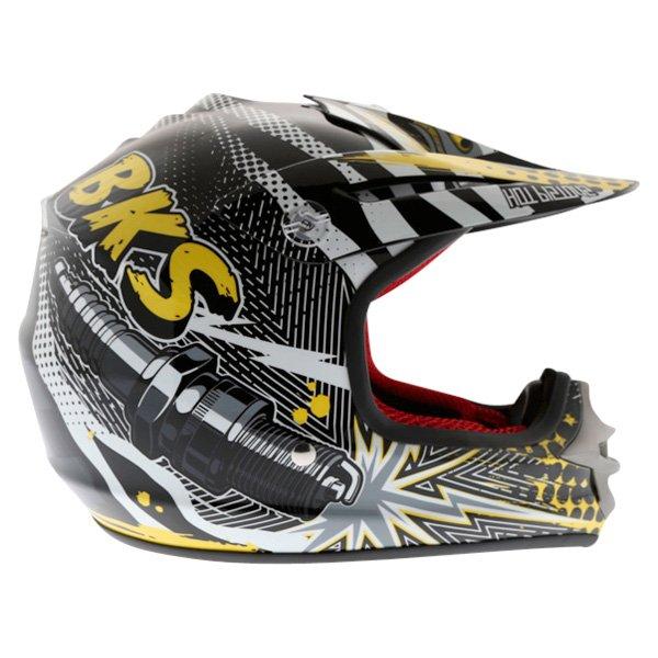BKS 303 Piston Kids MX Orange Helmet Right Side