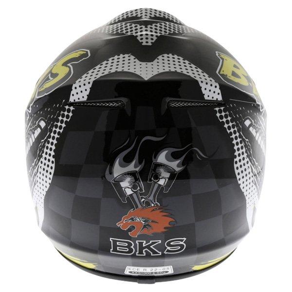 BKS 303 Piston Kids MX Orange Helmet Back
