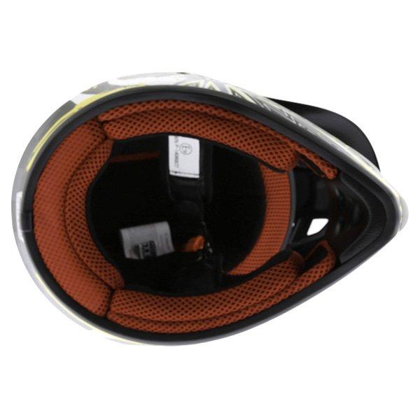 BKS 303 Piston Kids MX Orange Helmet Inside