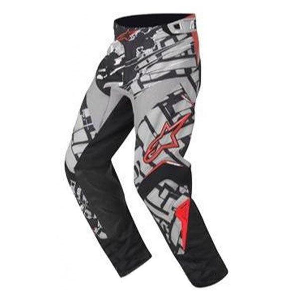 Alpinestars Charger Blokz Kids XIV Black Grey Red Motocross Pants Front