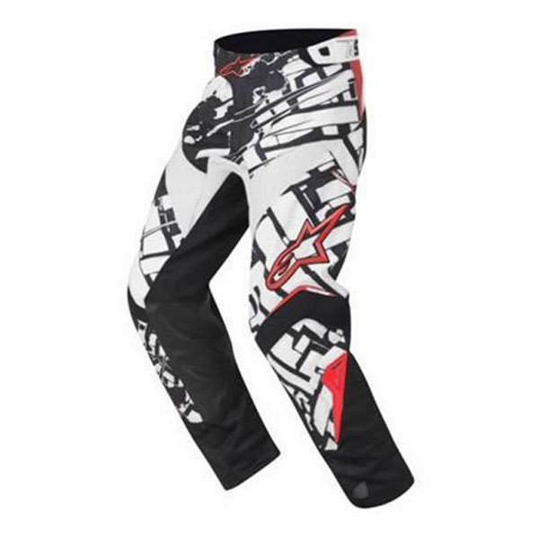 Alpinestars Charger Blokz Kids XIV Black White Red Motocross Pants Front